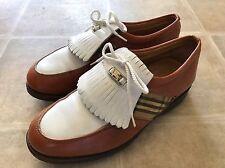 Mens Vintage BURBERRY Golf Shoes Size 5.5 EU