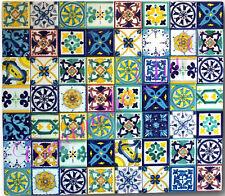 Lotto 56 Mattonella Piastrella 15x15 ceramica Vietri TILE maiolica COMP 24