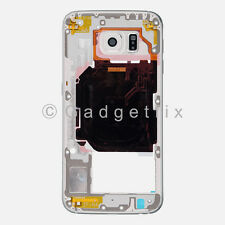 US White Samsung Galaxy S6 G920A G920T Back Housing Frame Bezel + Camera Lens