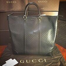 NEW Gucci Large Black Diamanté Leather Zip Top Tote Bag. $2,610