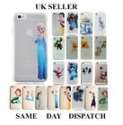 Cute Kids Cartoon Princess Disney Clear Back Hard case For iPhone 6 5 5s 5c 4 4s