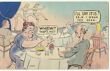 Org 1930s-50s Semi Nude Pinup Linen PC- Comic- Dancing Girls- Wife- That's Hot