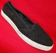 NEW Womens MIA GIRL PLAY BLACK Loafer Slip On Flats Loafers Casual Shoes SZ 8