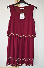 True Decadence TD Maroon Red Scallop Sequin Dress Size 10 RRP £60 BNWT