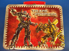 Transformers Dark of the Moon Movie Kids Birthday Party Lunch Box Metal Lunchbox