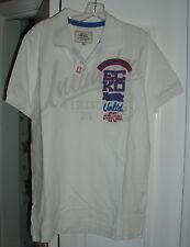 NWT mens ECKO UNLIMITED white RUGBY short sleeved POLO SHIRT size SMALL (s)