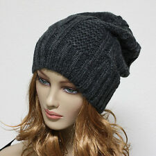 Knit Beanie Men Women Winter Oversize  Baggy Hat Ski Slouch Cap Chic Unisex Hats