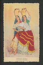 Embroidered clothing postcard Artist Tuser, Colombia, Dancers Belmonte Juillerat