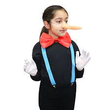 Enfants/adultes 4pc pinocchio long nez costume robe fantaisie (world book jour semaine)