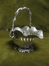 Charming 19th c continental silver (800) basket rococo st (with cherubs) 142gr