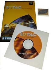 original zotac ION-ITX-S Mainboard Treiber CD DVD + Handbuch manual + Sticker