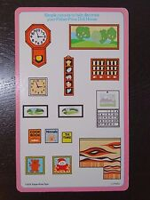 Vintage Fisher Price Dollhouse Decorating Cutouts 1978 (B)
