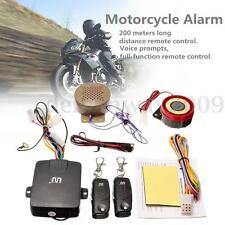 Motorcycle Motorbike Alarm System Immobiliser Remote Control Anti-theft Security