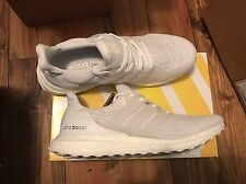 Size 11 Adidas Ultra Boost 3.0 Triple White BA8841. In Hand Fast Shipping