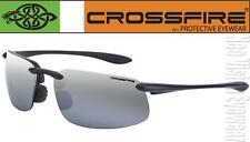 Crossfire ES4 Silver Mirror Lens Black Safety Glasses Sunglasses Shooting Z87.1