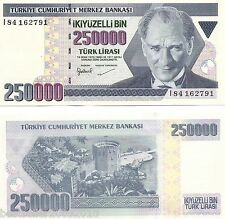 TURKEY 250000 LIRA UNC  # 809