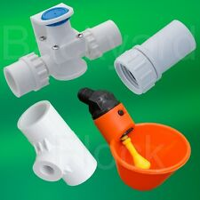 10 Cup Poultry Chicken Watering System w/ Tee, Pressure Regulator & Hose Adapter