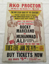 Muhammad Ali vs Rocky Marciano Fight Poster 22x14in RKO Proctor!! Jan 20th, 1970