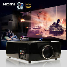 Multimedia 3500 Lumens HD LED Projector Home Theater TV/HDMI 1080P 3D 1280*800