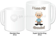 Personalised Jumbo Giant 20oz Mug- I Love My Grandad Design- Any Name