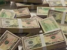 1/6 scale stacks & loose money. Lot of 300 $50 bills for GI Joe 12 inch figures!