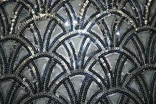 Mesh Sequin All Over #67 2-Way Stretch Poly Lycra Fabric By The Half Yard