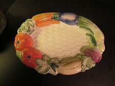 "Fitz & Floyd 1991 Vegetable 10-1/2"" Underplate/Oval Tray"