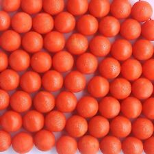 100 New .68 cal Reusable Rubber Training Balls Paintballs Orange Color