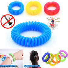 10pcs Anti Mosquito Bug Pest Repel Wrist Band Bracelet Insect Repellent Camping