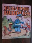 FUN-TIME RIDDLES illustrated by George Carlson 1937 SC
