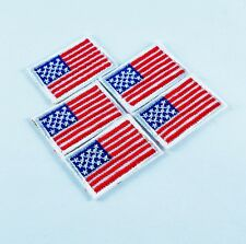 5pcs MINI US AMERICAN NATIONAL FLAG MILITARY IRON/SEW ON PATCH EMBROIDERED BADGE