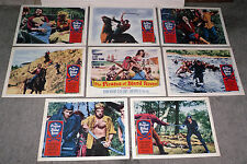 THE PIRATES OF BLOOD RIVER original HAMMER 11x14 lobby card set CHRISTOPHER LEE