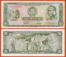 P99c perú 5 soles 15.aug 1974 UNC