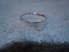 NEW PURE SILVER .999 BULLION SZ53/4 WOMAN RING HAND MADE BY ANARCHY JEWELRY #92G