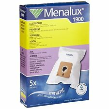 MENALUX 1900 SYNTHETIC VAC BAGS FOR KAMBROOK VOLTA NILFISK SIEGER AIRFLO TIFFANY