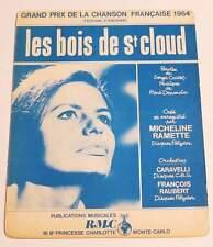 Partition vintage sheet music MICHELINE RAMETTE : Les Bois de St Cloud * 60's
