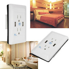 Dual USB Port Wall Socket Charger AC Power Receptacle Outlet Plate Panel Station