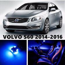 16pcs LED Blue Light Interior Package Kit for VOLVO S60 2014-2016