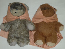 "VINTAGE 15"" EWOK PLUSH TOY LOT WICKET LATARA STAR WARS 1980S KENNER ESB ROTJ"