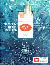 PUBLICITE ADVERTISING 026  1964  Craven A  cigarettes