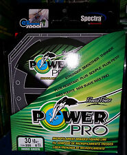 Power Pro Spectra braided fishing line 30 lb 300 yard moss Green