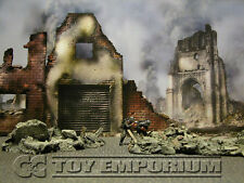 """BRAND NEW  Build-a-Rama 1:32 Deluxe WWII Color """"Fallen City"""" Museum Back Drop"""