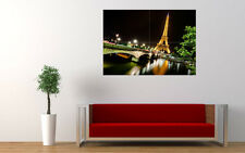 EIFFEL TOWER PARIS NIGHT NEW GIANT LARGE ART PRINT POSTER PICTURE WALL