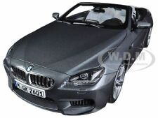 BMW M6 F12M CONVERTIBLE SPACE GREY 1/18 DIECAST CAR MODEL BY PARAGON 97062