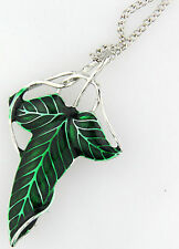 Fashion LOTR Lord Of The Rings's leaf Brooch Pin 18inch Chain Necklace Pendant