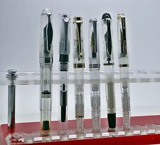 Lot Of Six Clear Demonstrator Fountain Pen - All clear