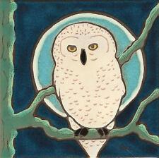 Ceramic Tile Handpainted Original Art Snowy Owl wall decor/trivet/bksplsh