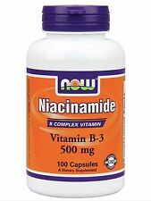 Now Foods NIACINAMIDE 500 mg, Vitamin B-3, 100 capsules - FAST SHIPPING