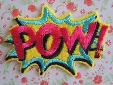 1 x POW Sew On/Iron On Embroidered Patch Badge Applique DIY Motif