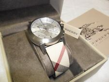 NEW BURBERRY BU9357 CITY LEATHER STRAP NOVA  CHRONOGRAPH WATCH MEN SWISS MADE